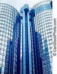 alto, edifícios, modernos, escritório