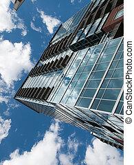 alto, edificio apartamento