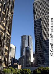 alto, edificios, céntrico