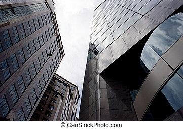alto, edificios