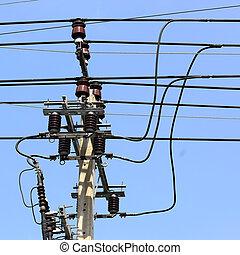 alto, equipamento, voltagem