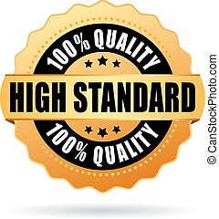 alto, estándar, estrella, oro, icono