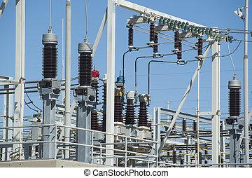 alto, estação, voltagem, poder