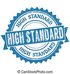 alto, estampilla, estándar