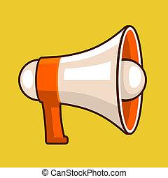 alto-falante, apartamento, vetorial, style., ícone