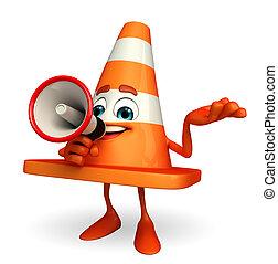 alto-falante, construção, personagem, cone