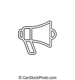 alto-falante, megafone, vetorial, ícone