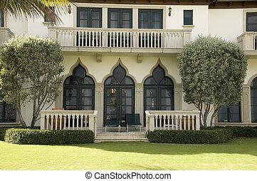 alto, fine, casa, spiaggia palma occidentale