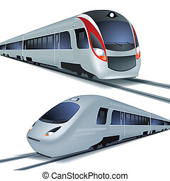 alto, fondo., isolatetd, treni, bianco, velocità
