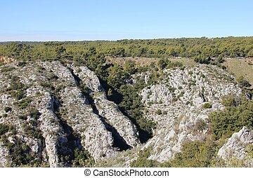 alto, formação rocha