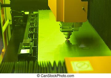 alto, laser, precisão, cnc