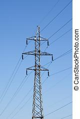 alto, linha, voltagem
