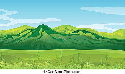 alto, montanhas