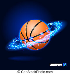 alto, pallacanestro, tensione