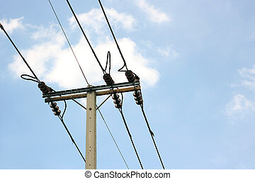alto, polaco, voltagem, elétrico