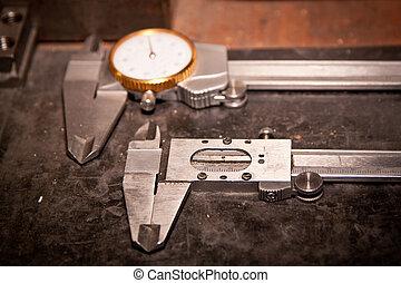 alto, precisão, medida, ferramentas