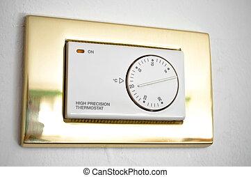 alto, precisão, termostato