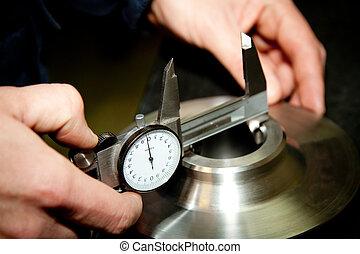 alto, precisión, medida, herramienta