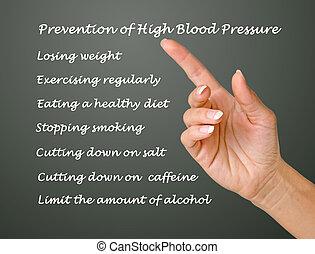 alto, presión, sangre, Prevención