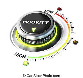 alto, priorità, definire
