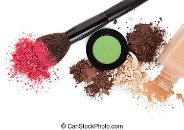 alto, prodotti, angolo, cosmetico, vista