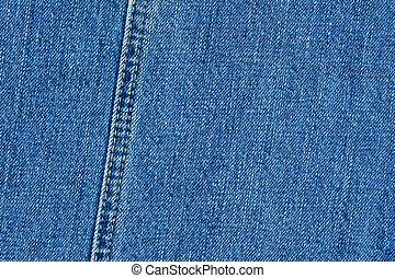 alto, qualidade, detalhado, denim, textura, -, abstratos, calças brim azuis, fundo, com, dobro, thread's, costura