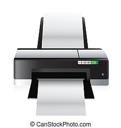 alto, qualidade, impressora