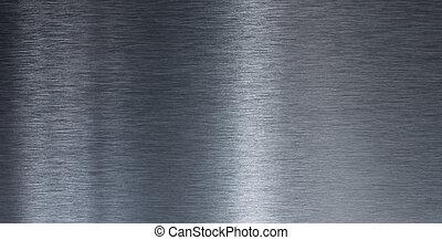 alto, qualidade, liso, metal, textura
