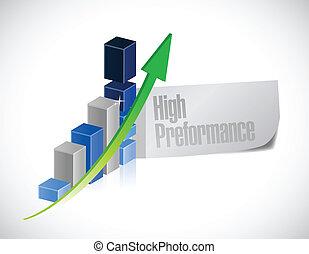 alto, rendimiento, graph., ilustración negocio