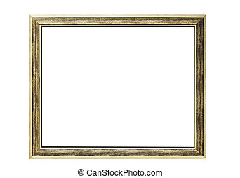 alto, resolución, marco vacío, aislado, blanco, plano de fondo