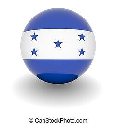 alto, risoluzione, bandiera, palla, honduras