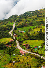 alto, rural, altitud, camino