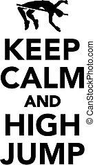 alto salto, calma, custodire
