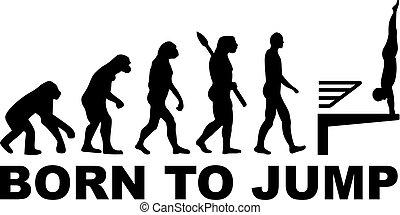 alto salto, evoluzione, tuffo, nato