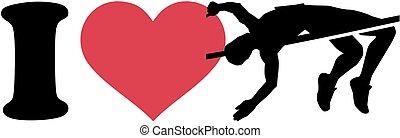 alto salto, silhouette, amore