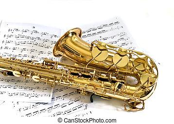 sax - alto sax with notes