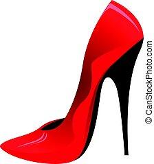 alto, scarpa, tallone