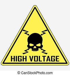alto, señal, vector, voltaje, peligro