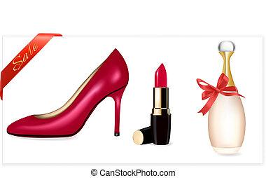 alto, sexy, labbra, scarpe, tallone