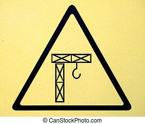 alto, simbolo, segno, tensione, pericolo