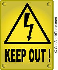 alto, sinal, mantenha, voltagem, saída