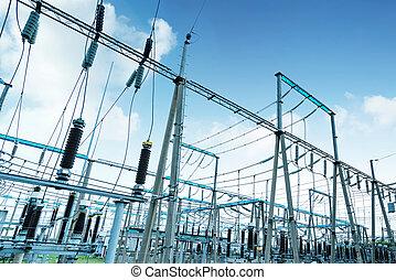 alto, substation, voltagem, poder