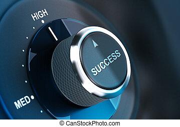 alto, suceder, success., nível