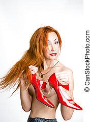 alto tallone, donna, scarpe