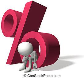 alto, taxas juros, magoado, mutuário, investidor