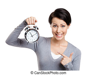 alto, tempo, para, acordar, cima., faça, não, desperdício, seu, tempo