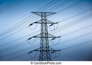 alto, torres, voltagem