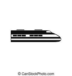 alto, trem, velocidade, ícone