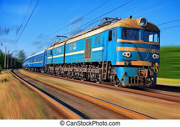 alto, tren de pasajeros, velocidad