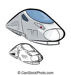 alto, treno, 2, velocità